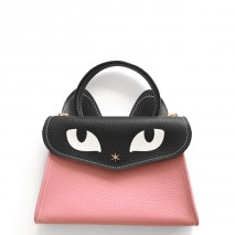 'Chantilly Le Chat Petit' Nappa Leather handbag Light Pink