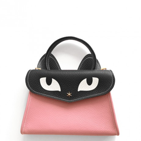 'Chantilly Le chat Petit' Sac à main Cuir Nappa Poudré