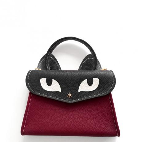 'Chantilly Le Chat Petit' Nappa Leather handbag