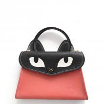 'Chantilly Le Chat Petit' Nappa Leather handbag Watermelon