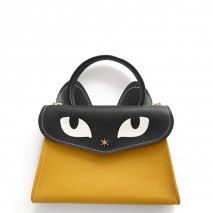 'Chantilly Le Chat Petit' Nappa Leather handbag Honey