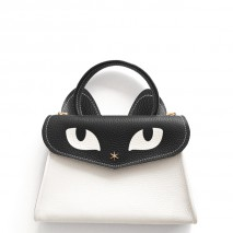 'Chantilly Le chat Petit' Sac à main Cuir Nappa Neige