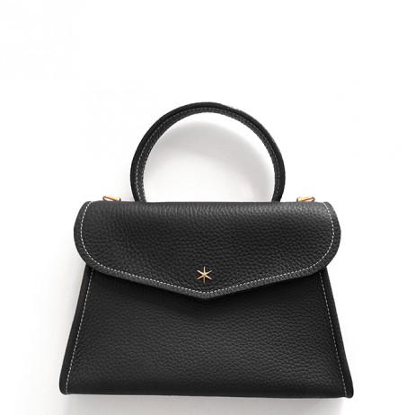 'Chantilly Petit' Sac à main Cuir Nappa Noir & Or