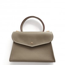 'Chantilly Petit' Sac à main Cuir Nappa Tourterelle & Or