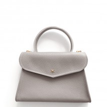 'Chantilly Petit' Nappa Leather handbag Pearl grey & Gold
