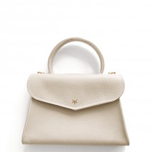 'Chantilly Petit' Nappa Leather handbag Cream & Gold