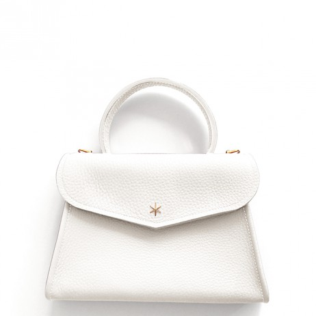 'Chantilly Petit' Sac à main Cuir Nappa Neige & Or