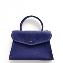 'Chantilly Petit' Nappa Leather handbag Navy Blue & Gold