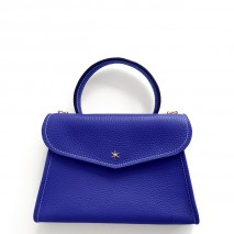 'Chantilly Petit' Nappa Leather handbag Deep Blue & Gold