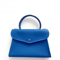 'Chantilly Petit' Nappa Leather handbag Cyan & Gold