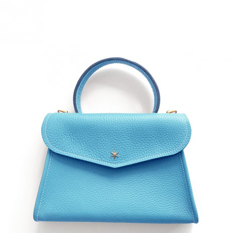'Chantilly Petit' Sac à main Cuir Nappa Azur & Or
