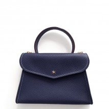 'Chantilly Petit' Sac à main Cuir Nappa Bleu Nuit & Or