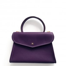 'Chantilly Petit' Nappa Leather handbag Dark Purple & Gold