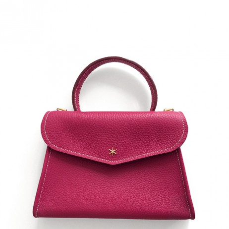'Chantilly Petit' Sac à main Cuir Nappa Fuchsia & Or
