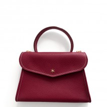 'Chantilly Petit' Nappa Leather handbag Dark Red & Gold