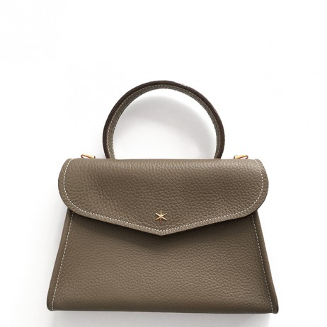 'Chantilly Petit' Sac à main Cuir Nappa Volcan & Or