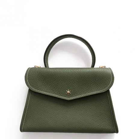 'Chantilly Petit' Sac à main Cuir Nappa Taiga & Or