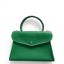 'Chantilly Petit' Nappa Leather handbag Green & Gold
