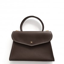 'Chantilly Petit' Nappa Leather handbag Chocolate & Gold
