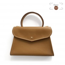 'Chantilly Petit' Sac à main Cuir Nappa Cognac & Or