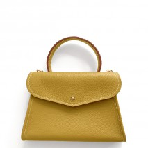 'Chantilly Petit' Nappa Leather handbag Moutarde & Gold