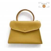 'Chantilly Petit' Sac à main Cuir Nappa Moutarde & Or