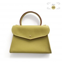 'Chantilly Petit' Sac à main Cuir Nappa Anis & Or