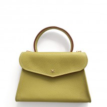 'Chantilly Petit' Nappa Leather handbag Anis & Gold