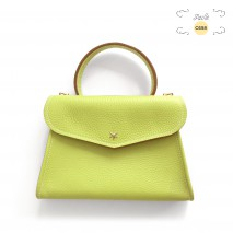 'Chantilly Petit' Sac à main Cuir Nappa Paille & Or