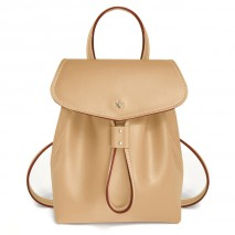 'Fontainebleau' Leather Backpack Dijon & Gold