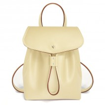'Fontainebleau' Leather BackpackLight Green & Gold