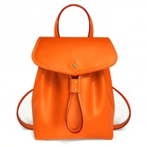 'Fontainebleau' Leather Backpack Orange & Gold