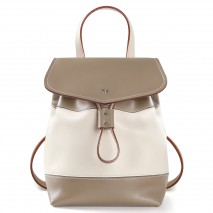 'Fontainebleau Duo' Leather Backpack Cream, Taupe & Silver