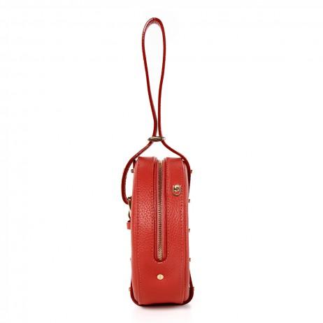 'Macaron' Nappa Leather round handbag Black & Gold