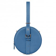'Macaron' Nappa Leather round handbag Indigo & Gold