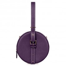 'Macaron' Nappa Leather round handbag Purple & Gold