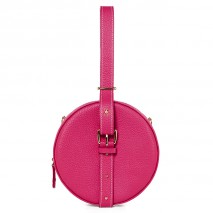 'Macaron' Nappa Leather round handbag Pink & Gold