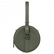 'Macaron' Nappa Leather round handbag Taiga & Gold