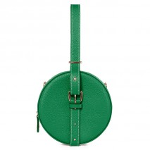 'Macaron' Nappa Leather round handbag Green & Gold