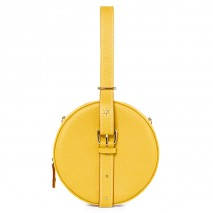 'Macaron' Nappa Leather round handbag Yellow & Gold