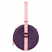 'Macaron' Nappa Leather round handbag Purple, Pink & Gold