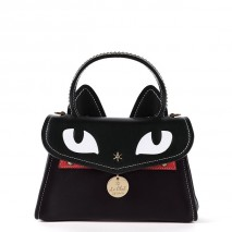 'Chantilly Le chat Premier' Sac à main Cuir Ebene