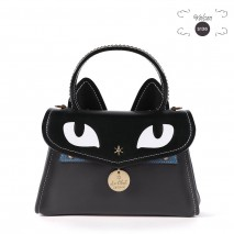 'Chantilly Le Chat Premier' Nappa Leather handbag Dark Grey
