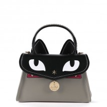 'Chantilly Le chat Premier' Sac à main Cuir Tourterelle