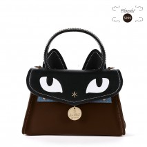 'Chantilly Le Chat Premier' Nappa Leather handbag Chocolate