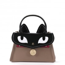 'Chantilly Le Chat Premier' Nappa Leather handbag Taupe