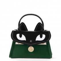 'Chantilly Le Chat Premier' Nappa Leather handbag Dark Green