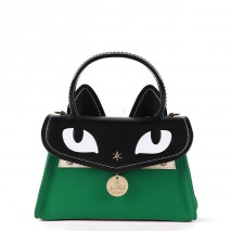 'Chantilly Le Chat Premier' Nappa Leather handbag Lagon