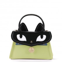 'Chantilly Le Chat Premier' Nappa Leather handbag Light Green
