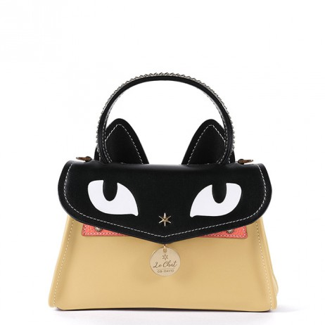 'Chantilly Le chat Premier' Sac à main Cuir Anis